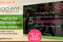 Managing the CX demands of 5 generations … new eBook