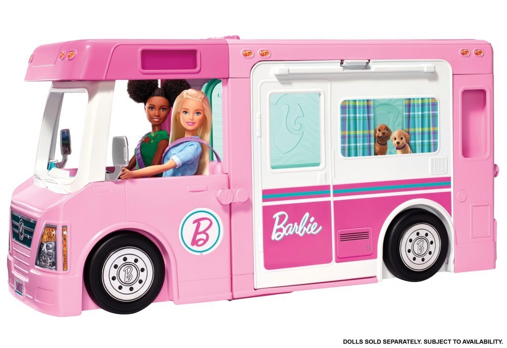 Barbie's Dream camper comes with 50 play pieces